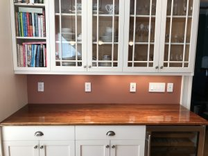 High-gloss countertop by Larkin Painting Company