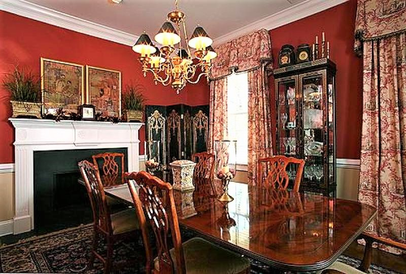 red dining room