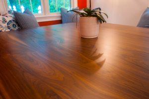 walnut custom dining table
