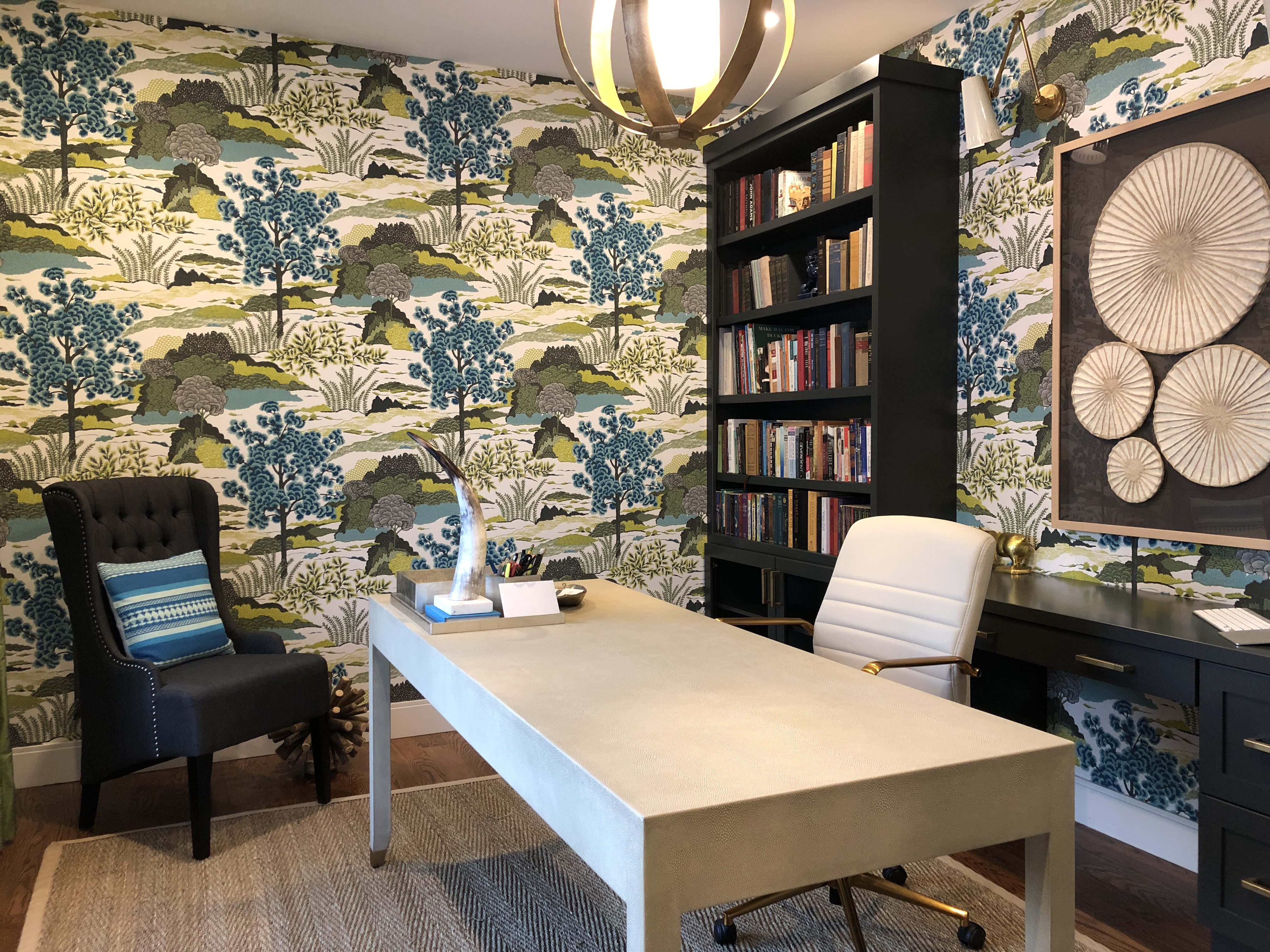 "Our color consultant Christine thinks that customers enjoy contemporary wallpaper design so much because it is finally ""acceptable to have a little ..."