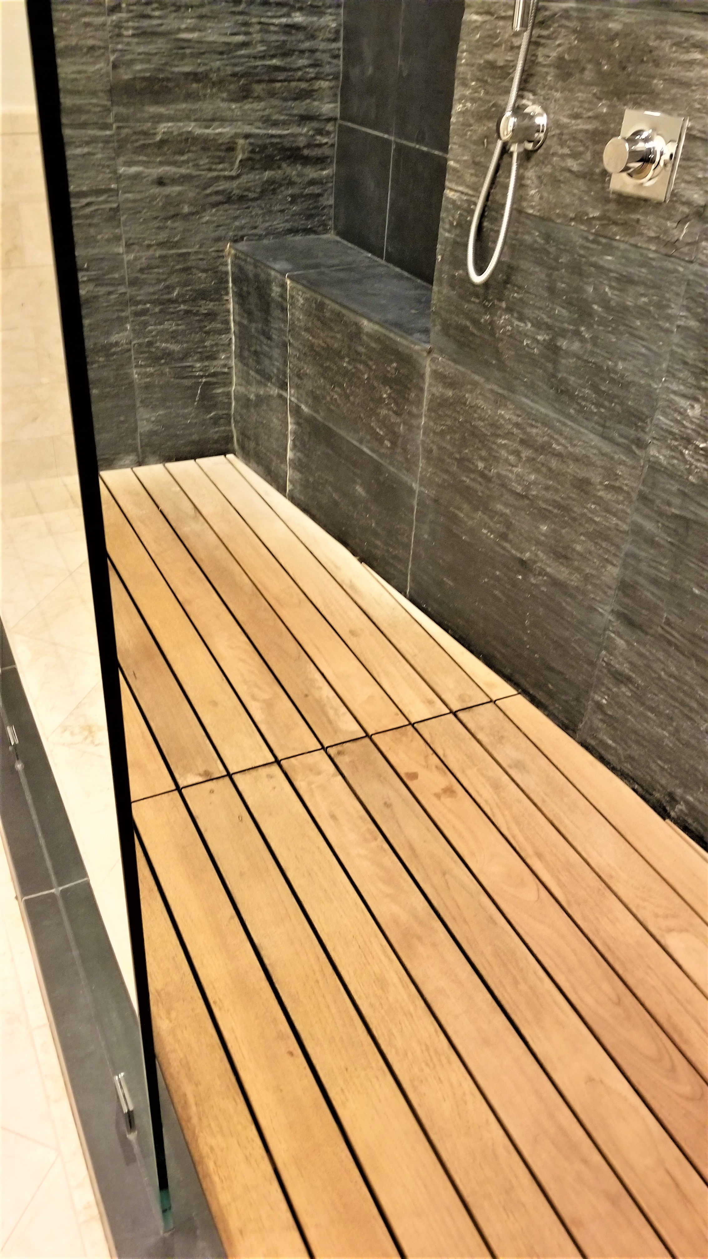 New Life For A Teak Wood Shower Floor The Larkin Painting Company