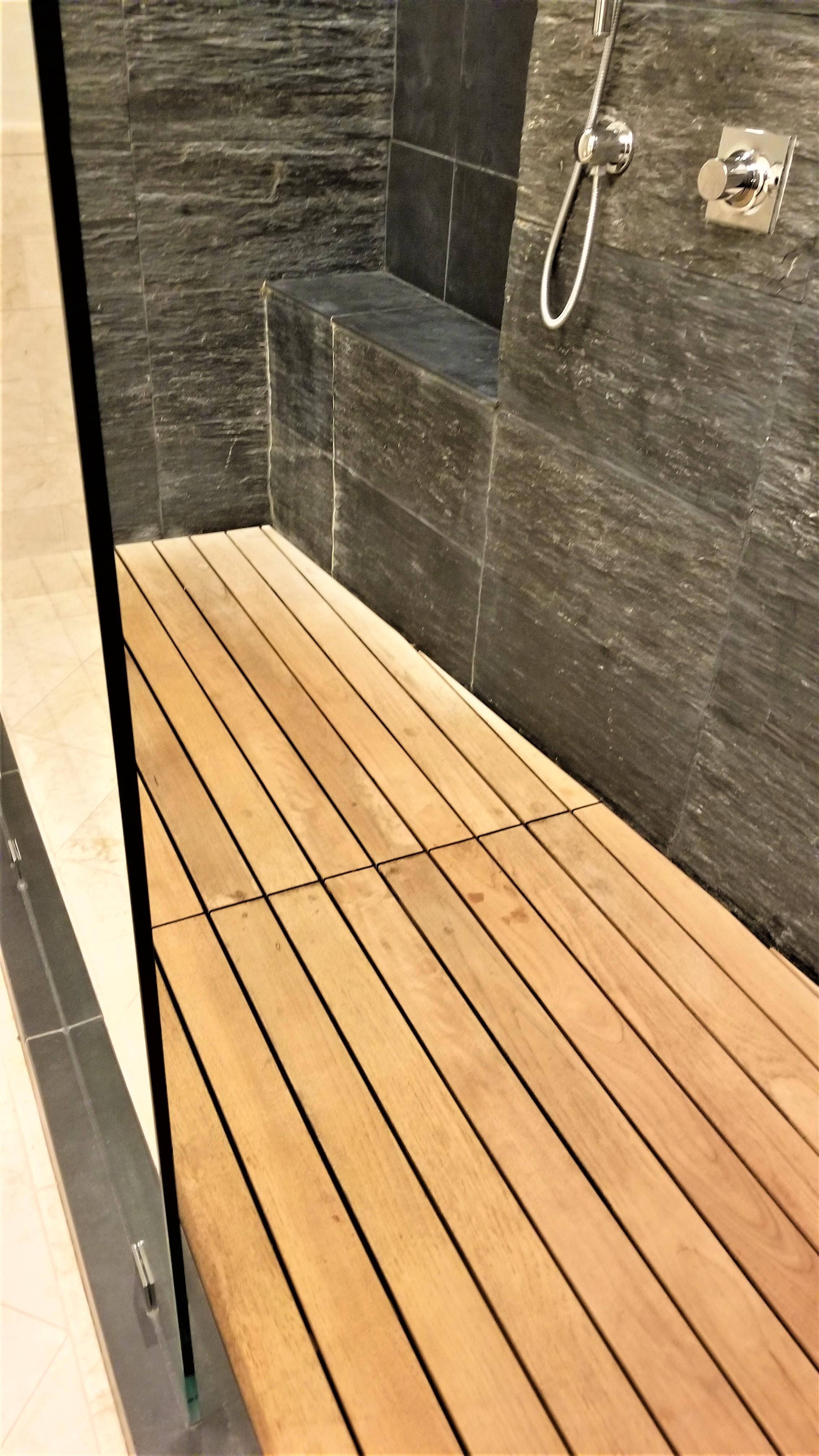 New Life For A Teak Wood Shower Floor